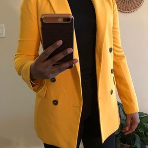 NWT Double Breasted Yellow Blazer